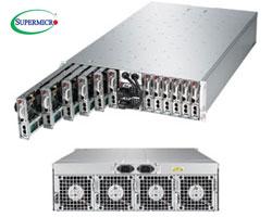 """MicroCloud 5038ML-H12TRF szerver - 3U 12xUPNode [E3-1200v3 4xDDR3 2x3.5""""/4x2.5""""Fix SATA 2xGbE] 2x1620W"""
