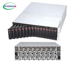 "MicroCloud 5038ML-H8TRF szerver - 3U 8xUPNode [E3-1200v3 4xDDR3 2x3.5""HS SATA 2xGbE] 2x1620W"