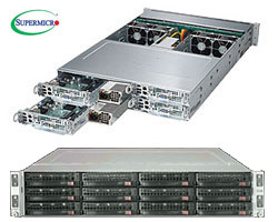"""TwinPro2 6028TP-HTR szerver - 2U 4xDPNode [2xE5-2600v3 16xDDR4 3x3.5""""HS SATA 2xGbE] 2x2000W"""