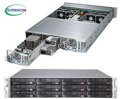 """TwinPro 6028TP-DNCFR szerver - 2U 2xDPNode [2xE5-2600v3 16xDDR4 6x3.5""""HS SAS3 2xSAS+4xNVMe 2x1GbE IB-FDR] 2x1280W"""