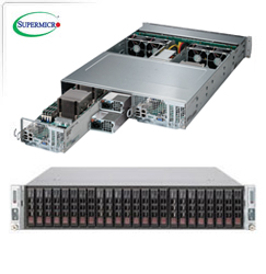 """Supermicro TwinPro 2027PR-D... szerver - 2U 2xDPNode [2xE5-2600v2 16xDDR3 8x2.5""""HS...] 2x1280W"""