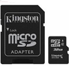4GB microSD Card Class 4 SDHC - FAT32, min 4MB/s , incl. adapter, Kingston