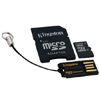 4GB microSD Card Class 10 UHS-I SDHC - FAT32, min 10MB/s , incl. adapter & USB reader, Kingston