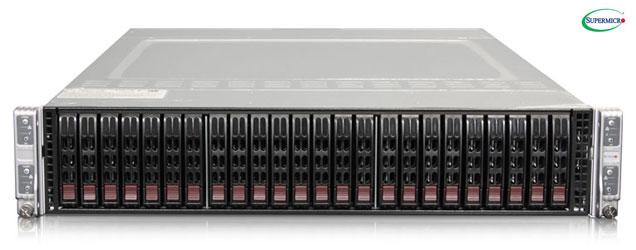 """Supermicro TwinPro2 2028TP-H... szerver - 2U 4xDPNode [2xE5-2600v3 16xDDR3 6x2.5""""HS...] 2x2000W"""